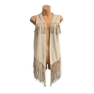 Do Everything in Love Faux Suede Vest OS